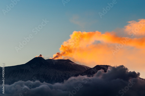 Poster Vulkaan Italien, Sizilien, Vulkan Ätna