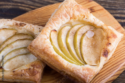 Photo  Homemade apple tart