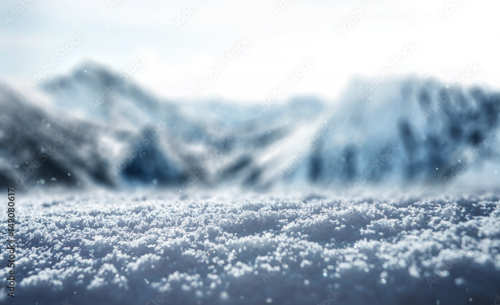 Fototapety, obrazy: Winter snow ice Background