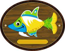 Cute Cartoon Tropical Fish On ...