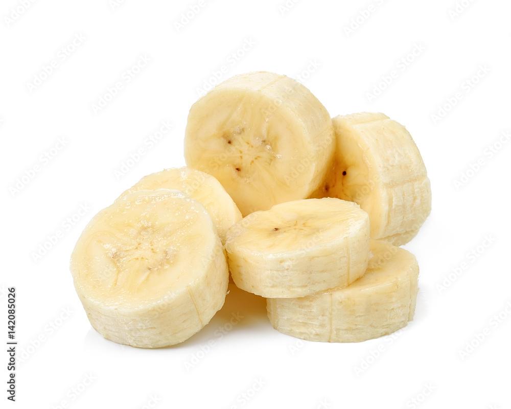Fotografie, Obraz Slice banana isolated on white background