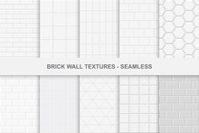 Collection Of Seamless Brick Wall Textures.