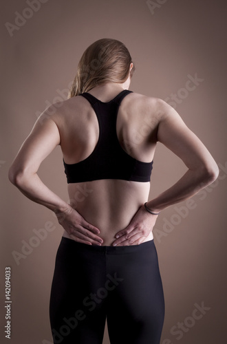 Fotografía  Female back pain