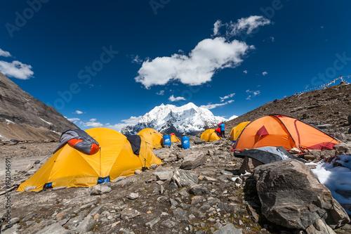Fotografie, Obraz  Manaslu base camp, Nepal