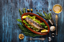 Baked Mackerel With Lemon On A...