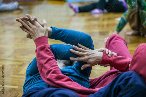 Stampa su Tela dancer contact hand