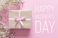 Mother's Day Card, Pink Backgr...