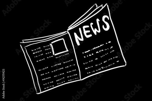 News on blackboard Canvas Print
