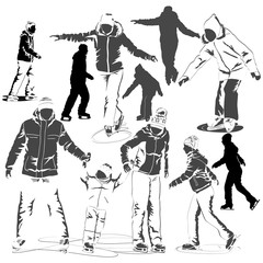 People on an skating rink