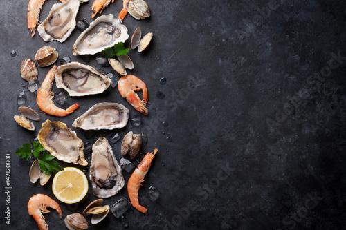 Ingelijste posters Schaaldieren Fresh seafood