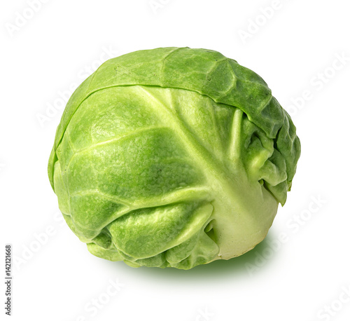 Door stickers Brussels Brussels sprouts isolated on white