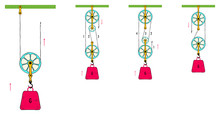 Pulley And Physics Hand Drawn Vector
