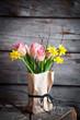 canvas print picture Springtime flower bouquet
