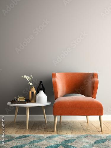 Fototapety, obrazy: Interior modern design room 3D illustration