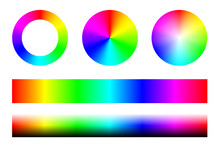 Set Of Color Spectra RGB, Whee...