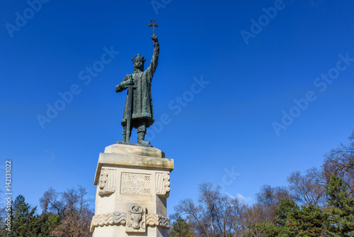Fotografie, Obraz  Monument statue of stefan cel mare si sfant, the great and holy, chisinau, moldo