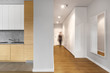 canvas print picture - Long modern hallway