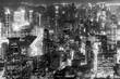 Aerial view of Shanghai city center.
