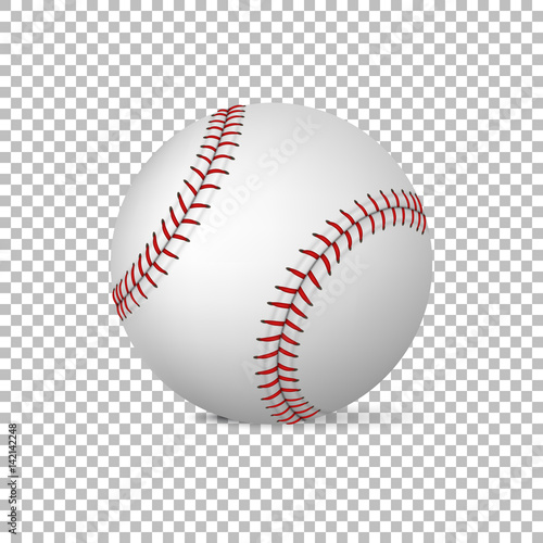 Realistic vector baseball isolated, Design template in EPS10 ...