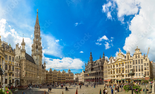 Spoed Foto op Canvas Brussel The Grand Place in Brussels