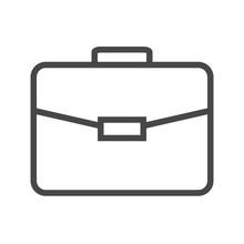 Briefcase Thin Line Vector Ico...