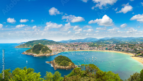 Fototapeta  Panoramic view of San Sebastian
