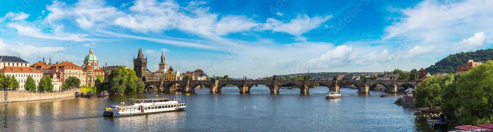 Fototapety, obrazy: Panoramic view of Prague