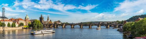 Panoramic view of Prague Canvas Print