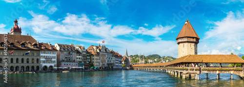 Fototapeta Chapel bridge in Lucerne
