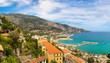 Panoramic view of Menton, France