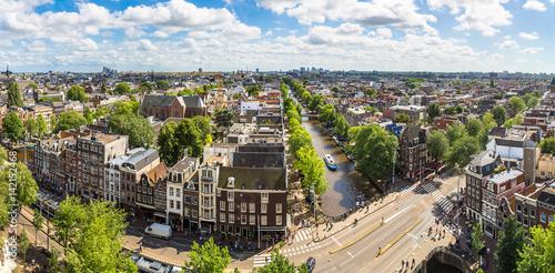 Plakat Panoramiczny widok z Amsterdamu