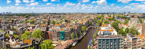 Spoed Foto op Canvas Amsterdam Panoramic view of Amsterdam