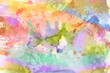 Watercolor Wet Background. Abstract colorful watercolor for background.