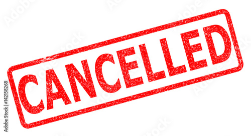 Fotografía  cancelled stamp on white background. cancelled stamp sign.