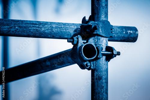 full frame shot of scaffold,construction site. Fototapeta