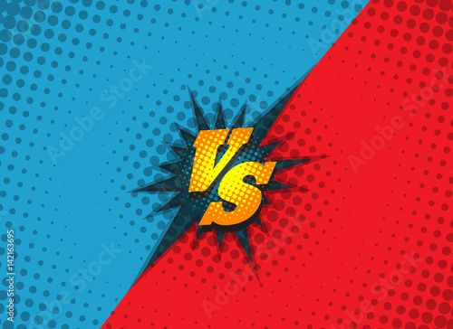versus fighting background concept in comic book style vector