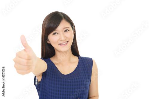 Fotografie, Obraz  喜ぶ女性