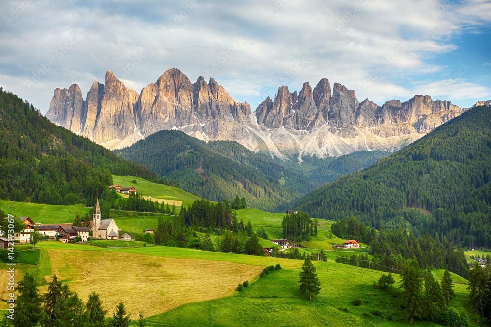 Fototapety, obrazy: Dolomites alps, Mountain - Val di Funes