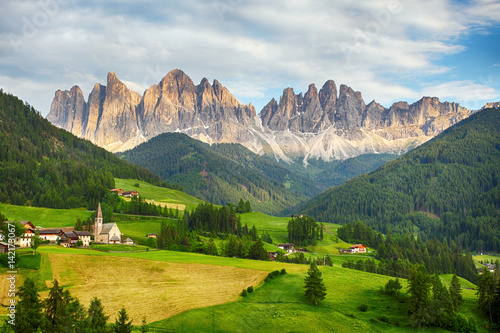 Fototapeta Dolomites alps, Mountain - Val di Funes obraz