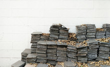 Pile Of Abandoned Tiles