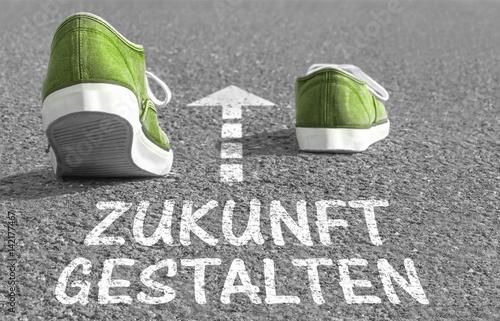 """Fotografía  Weg in Richtung """"Zukunft gestalten"""""""