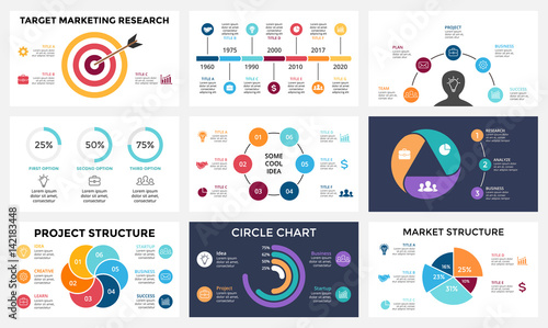 marketing infographic cycle diagram global business graph circle