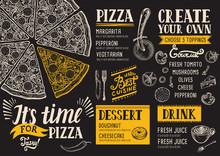 Pizza Menu Restaurant, Food Te...