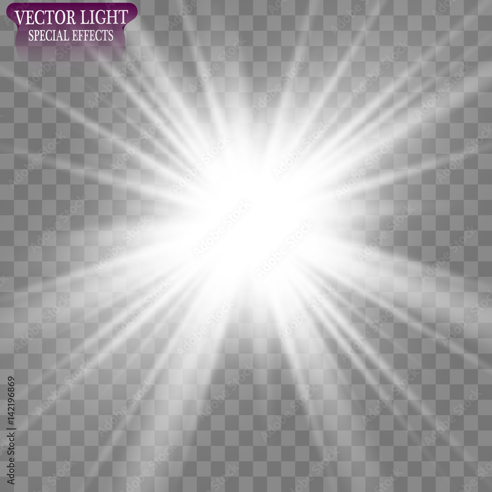 Fototapety, obrazy: Vector illustration of abstract flare light rays