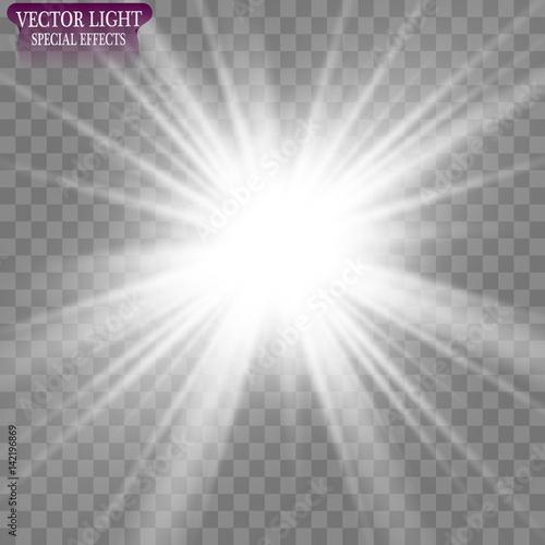 Obraz Vector illustration of abstract flare light rays - fototapety do salonu