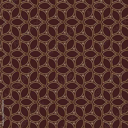 Fototapety, obrazy: Seamless vector golden ornament. Modern background. Geometric modern pattern