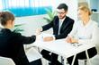 Handshake on job interview