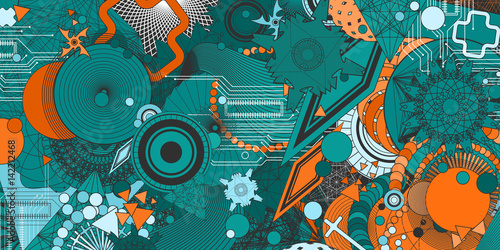 geometryczne-elementy-na-zielonym-tle