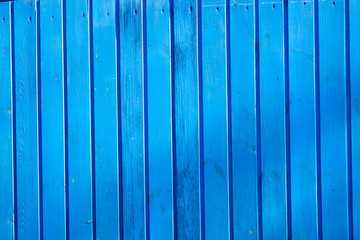Blue vertical board background wall