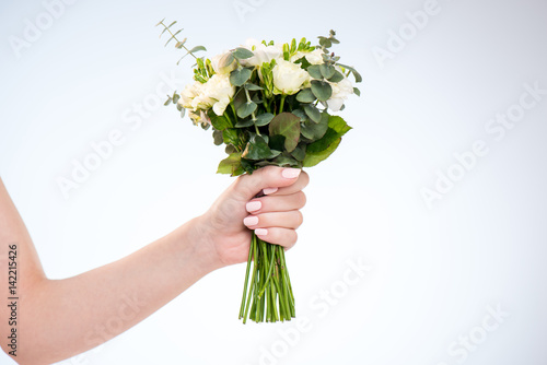 Wall Murals Floral hand holding flowers